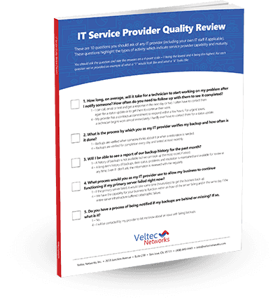 IT Service Provider Quality Review